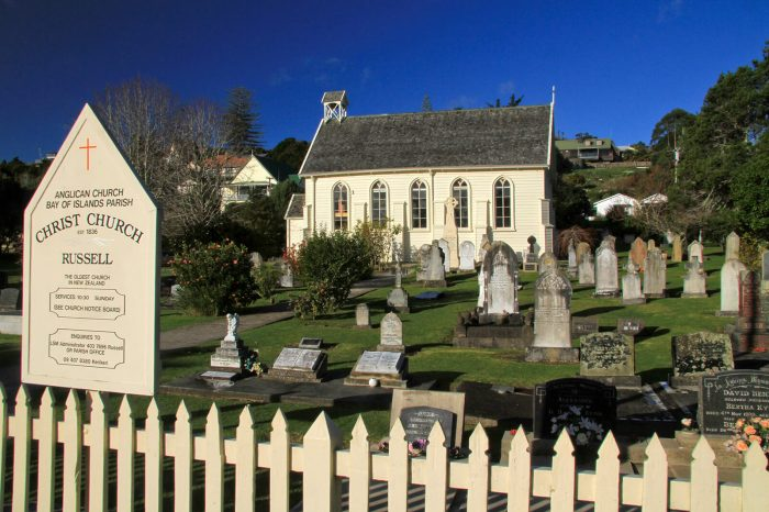 Historical Anglican Christ Church in Russell