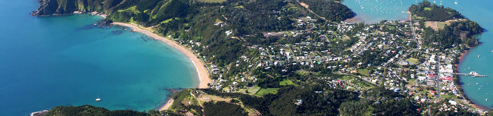 Aerial view of Russell, Bay of Islands