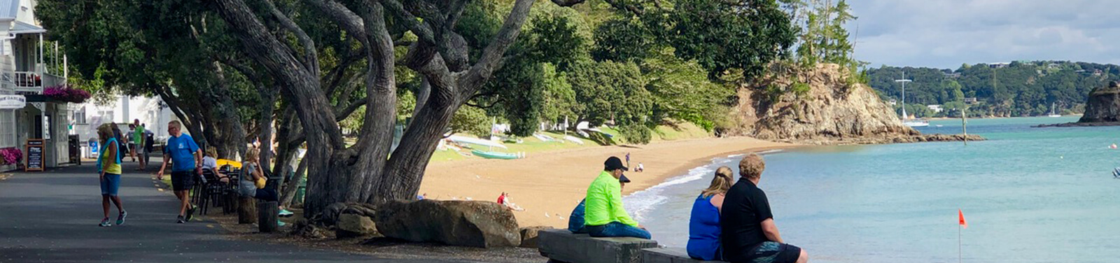Looking at the main beach in Russell, Bay of Islands